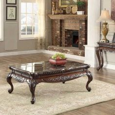 Dark Cherry Coffee Table Sets