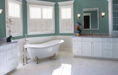 Eclipse shutters interior plantation shutters for the bathroom are waterproof and washable with an unprecedented 25-year warranty.