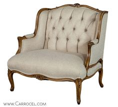 Pair of Louis XV Style Oversize Bergeres Restored by Carrocel image 3