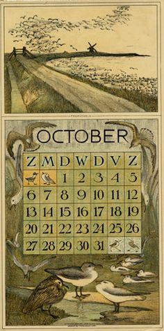 Theodoor van Hoytema, calendar 1912 October