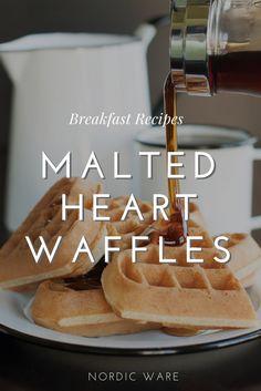 Malted Waffle Recipe Using Nordic Ware S Heart Waffler