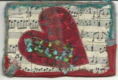 Postcard Valentine shabby chic by diana.bracy, via Flickr