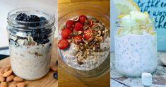 En sunn start på dagen er viktig. Her er tre slankende oppskrifter på kjøleskapsgrøt. Acai Bowl, Oatmeal, Breakfast, Food, Acai Berry Bowl, The Oatmeal, Morning Coffee, Rolled Oats, Essen