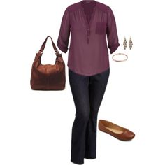 A fashion look from August 2015 featuring maurices blouses and Old Navy jeans. Browse and shop related looks.