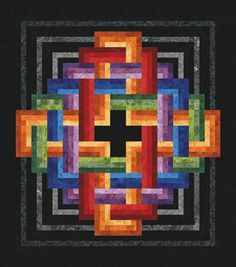 FIVE PILLARS OF ISLAM Gordian Knot Rotary Machine Piecing Quilt Pattern
