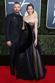 Justin Timberlake and Jessica Biel, both in Dior.