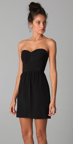 can never have too many black dresses. I'd like this one, Rebecca Taylor.