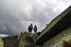 Marian and Veronika climbing Strelecka veza