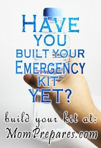 Have You Built Your Kit Yet?  Different types of emergency kits - what does your family need?