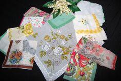 Vintage Hankies Mint Bouquet by CheekyVintageCloset on Etsy, $34.50