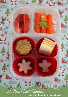 {Christmas Countdown} Advent Lunches: Holiday Lunchable