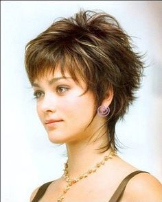 shaggy layered short hairstyles with bangs for sassy girl