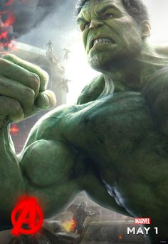 "Just in case you've ever wanted a good, close-up look at the Hulk's musculature, Mark Ruffalo tweeted out the ""official"" Age of Ultron Hulk poster."