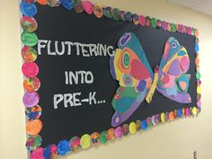 Eric Carle inspired butterfly bulletin board - made by me ☺️