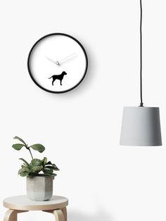 'Dog lovers simple design' Clock by Michalala Quartz Clock Mechanism, Modern Prints, Hand Coloring, Simple Designs, Dog Lovers, Home Decor, Simple Drawings, Decoration Home, Room Decor