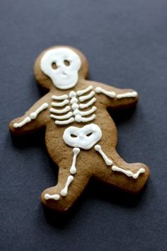 skeleton on gingerbread man