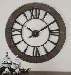 "Ronan Wall Clock 40"" by Uttermost - Open Face Wall Clocks"