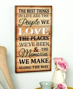 The Lighted Sentiment #WallArt is an inspirational addition to any room. It features an encouraging phrase on a distressed background that complements existing decor. When activated, a light shines from behind. On/off button.