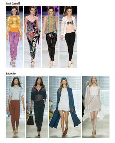 My favourite styles of Spring Summer 2014 COLLECTION apparel, shoes and make up by Just Cavalli, Lacoste  ------- i miei preferiti della COLLEZIONE moda Primavera Estate 2014 abbigliamento scarpe accessori e trucco
