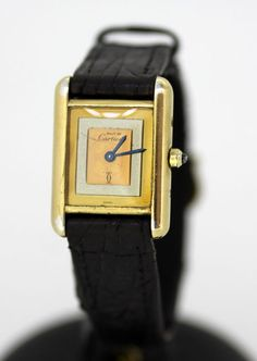 c771ebe6c2e89 Currently at the  Catawiki auctions  Must De Cartier Ladies Watch 1970 –  Gilded Silver