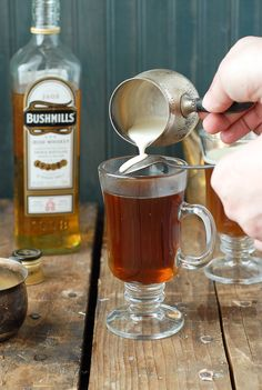 Authentic Irish Coffee. A great option for St. Patrick's Day!