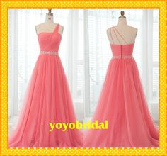 Elegant One shoulder Open Back Evening Dress Organza A line Lace Ribbon Crystal Sequin Beaded Long Ruched Prom Womens Formal Dresses Gown on Etsy, $125.00