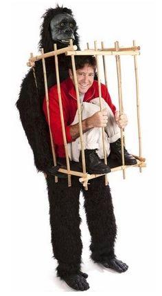 Gorilla-mit-Käfig-Kostüm-für-Karneval-Halloween-und-Fasching