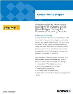 What Do You Need to Know About Outcome-based Delivery? Do You Need, White Paper, Delivery