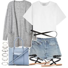 Sin título #2473 by hellomissapple on Polyvore featuring 3.1 Phillip Lim, Ash, Rebecca Minkoff, Forever 21, H&M and Levi's