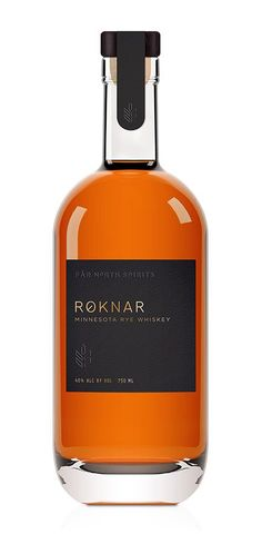 Roknar, Minnesota rye whiskey bottle - via www.murraymitchell.com