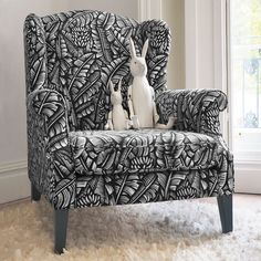 """1,069 Likes, 9 Comments - Happy + Co (@happyandcohome) on Instagram: """"Relax in our wing back chairs, ottomans and footstools, featuring our most iconic print designs."""""""