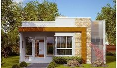 fachadas de casas pequeñas - Buscar con Google House Front Design, Tiny House Design, Home Design Plans, Home Interior Design, Modern Bungalow House, Modern Houses, Tiny Houses, Independent House, Building Elevation