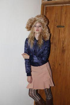 down jacket frill skirt