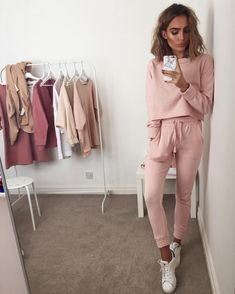 "11.2k Likes, 248 Comments - Alicia Roddy (@lissyroddyy) on Instagram: ""Pastel pink tracksuits for spring  - item details below. @missguided 'Slim fit joggers pink' 'Pink…"""