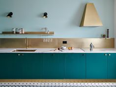 This Kitchen Makeover Makes the Case for Bold Color Blocking