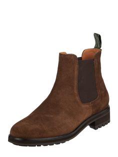 Bei ➧ P&C Chelsea boots von POLO-RALPH-LAUREN ✓ Jetzt POLO-RALPH-LAUREN Chelsea Boots aus Veloursleder in Braun online kaufen ✓ 4021702