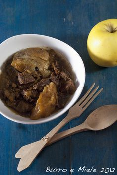 cider and apple meat stew
