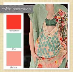Red, Pink and Mint Green :: Color Palette 61. Since tom got me a red kitchen aid that matches nothing Its time to change the color scheme. I love this!