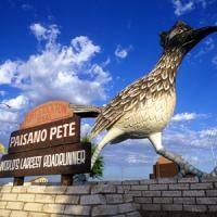 Paisano Pete, a statue of a giant road runner Fort Stockton, Texas - Pecos Trail Region
