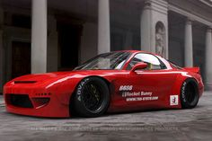Rocket Bunny Mazda RX-7 1993-96 Full Rocket Bunny FD3S Wide-Body Aero Kit Ver.2