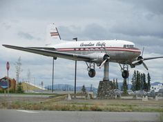 This decommissioned DC-3 now forever points into the oncoming wind.
