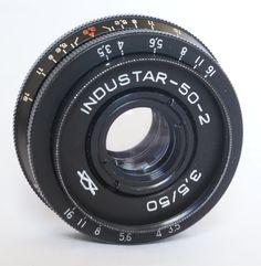 Industar-50-2 50mm 3.5 Pancake Camera Lens M42 Mount i-50-2 USSR #Industar