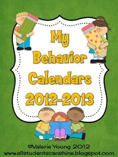 These calendars are for the 2012-2013 school year. Use them to track student behavior during the year.   $