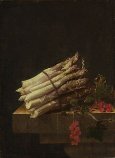 "Adriaen Coorte, ""Still Life with Asparagus and Red Currants,"" 1696,"