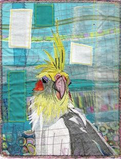 """Ziggy"" - Fabric Portraits by Karin Winter Arts"