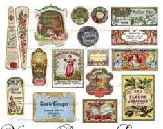 printable vintage perfume labels - Google Search