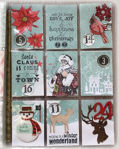 Susanne Rose - Papierkleckse: Advent Calendar Pocket Letter