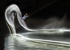 Red Bull Light Painting Wakeboard Photo Series 1