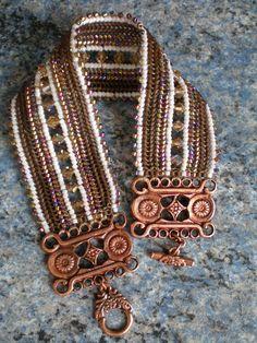 bracelet tissé en perles. --> inspiration