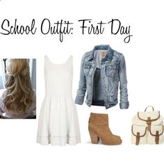 First Day Of School Outfit by leahstyles25 on Polyvore
